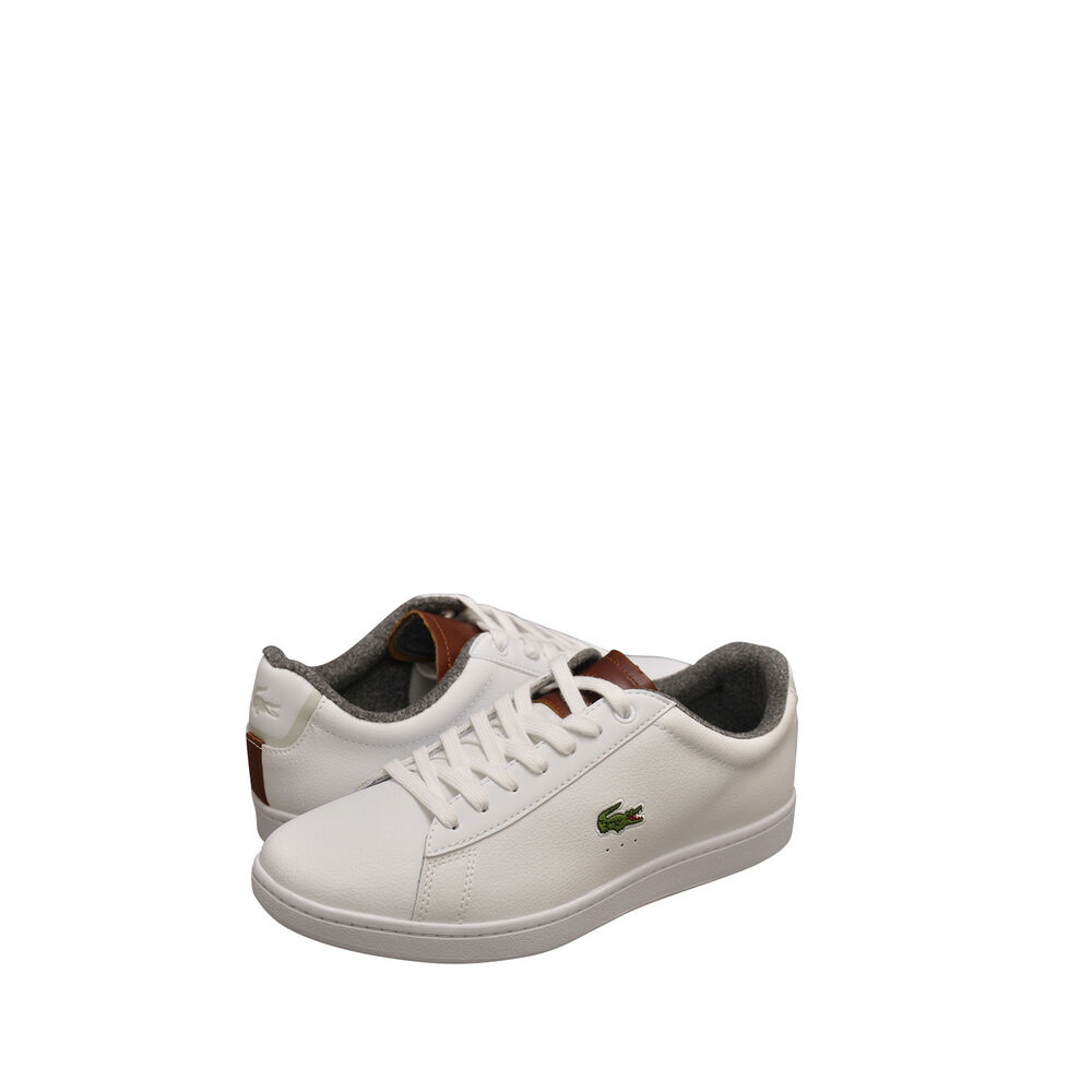 678f18389 Details about Men s Shoes Lacoste Carnaby EVO 318 2 SPM Sneaker  36SPM0010385 White Brown  New