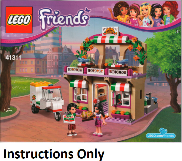New Instructions Only Lego Heartlake Pizzeria 41311 Manual Book From
