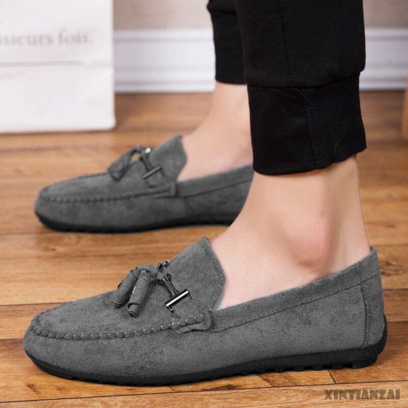 60f7936ffb7 Details about stylish mens flat gommino shoes leisure driving elegangt loafer  shoes winter new