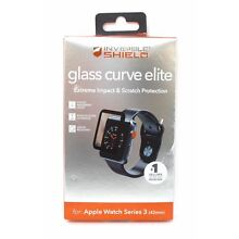 Zagg InvisibleShield Glass Curve Elite for Apple Watch Series 3 42mm Black New