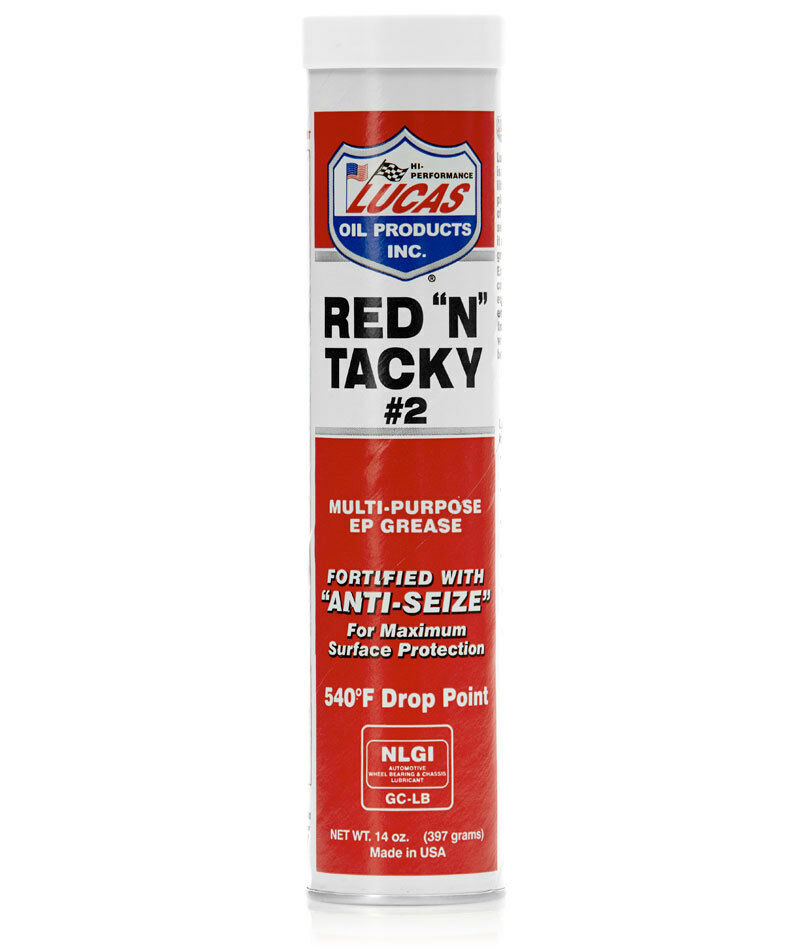 Lucas 10005 Red'n'Tacky Grease / 14 oz cartridges / case of 30 49807100056  | eBay