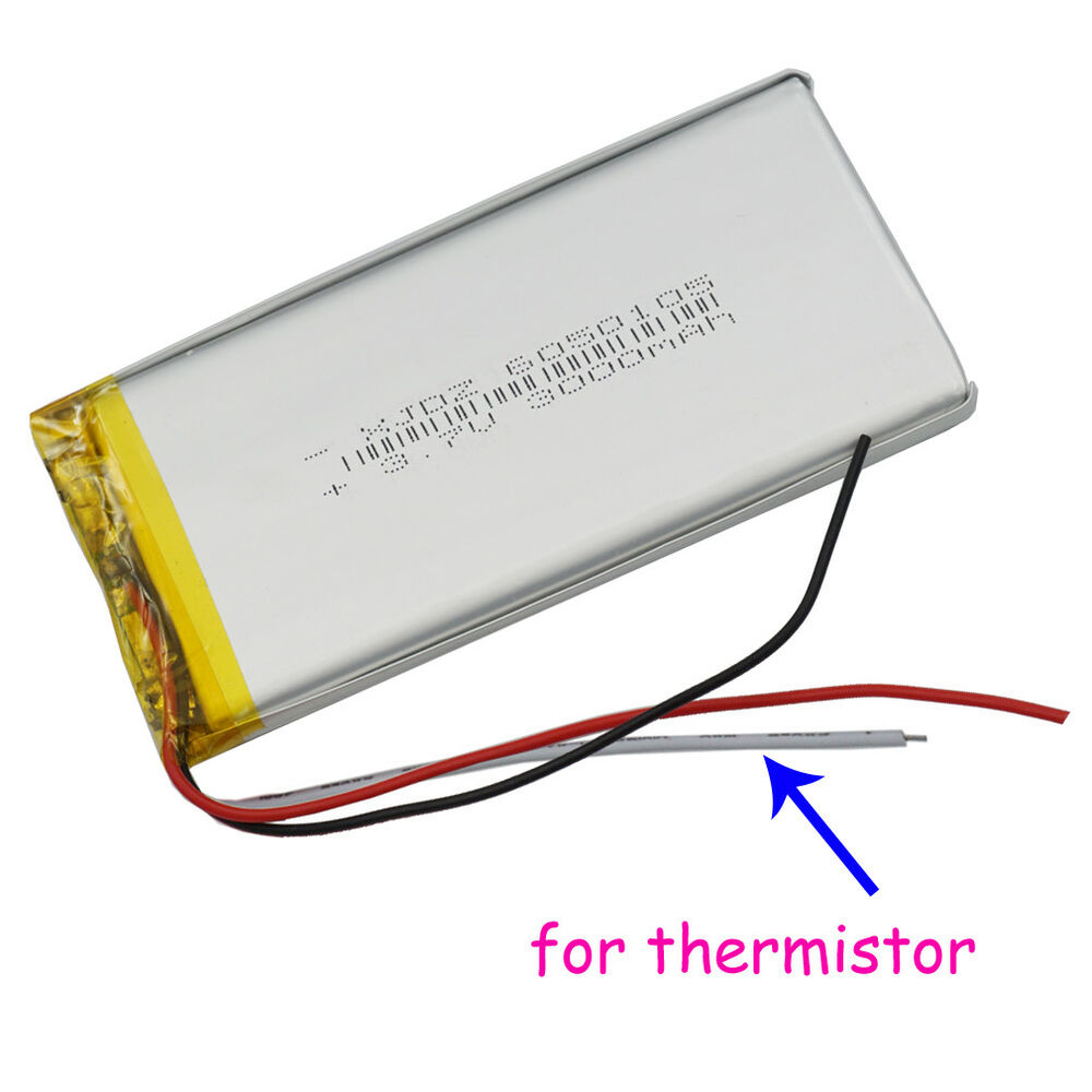 37v 3000mah Polymer Li Battery Lipo Thermistor 3 Wire 6050105 For Pad Tablet Pc 600682493444 Ebay Thermistors Wiring In Parallel