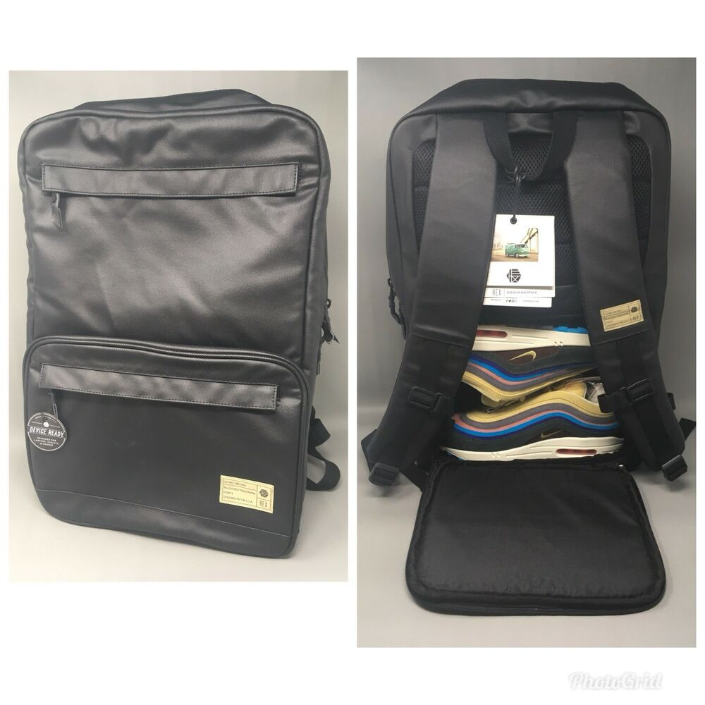 f155635feb Details about Hex Calibre Black Sneaker Backpack Streetwear New With Tags