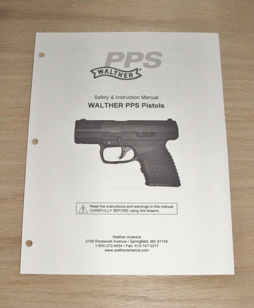 walther pps owners manual m2 ebay rh ebay com Walther PPQ Walther PPK 9Mm