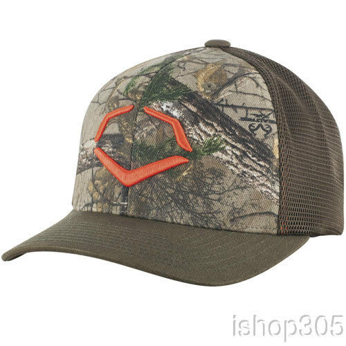 Details about Evoshield Flex Fit Realtree Camouflage Baseball Cap Trucker  Hat Olive Green 32ccf4322b9