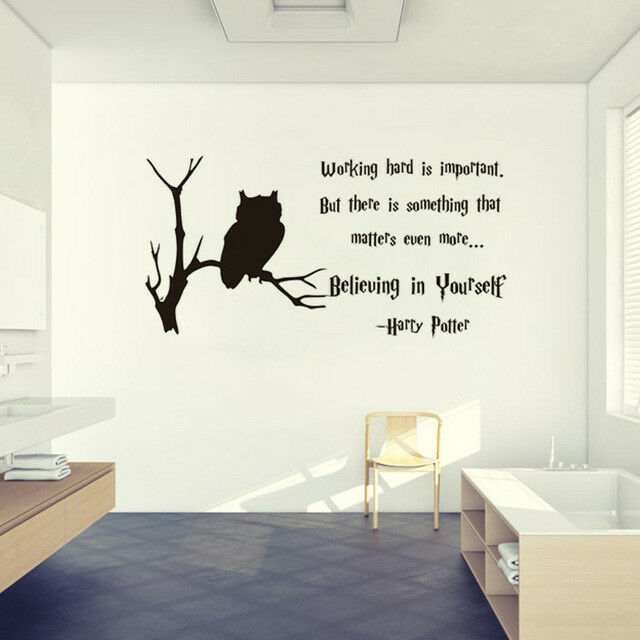 charming bedroom wall art stickers | Harry Potter Vinyl Wall Decals Quote Home Decor Bedroom ...