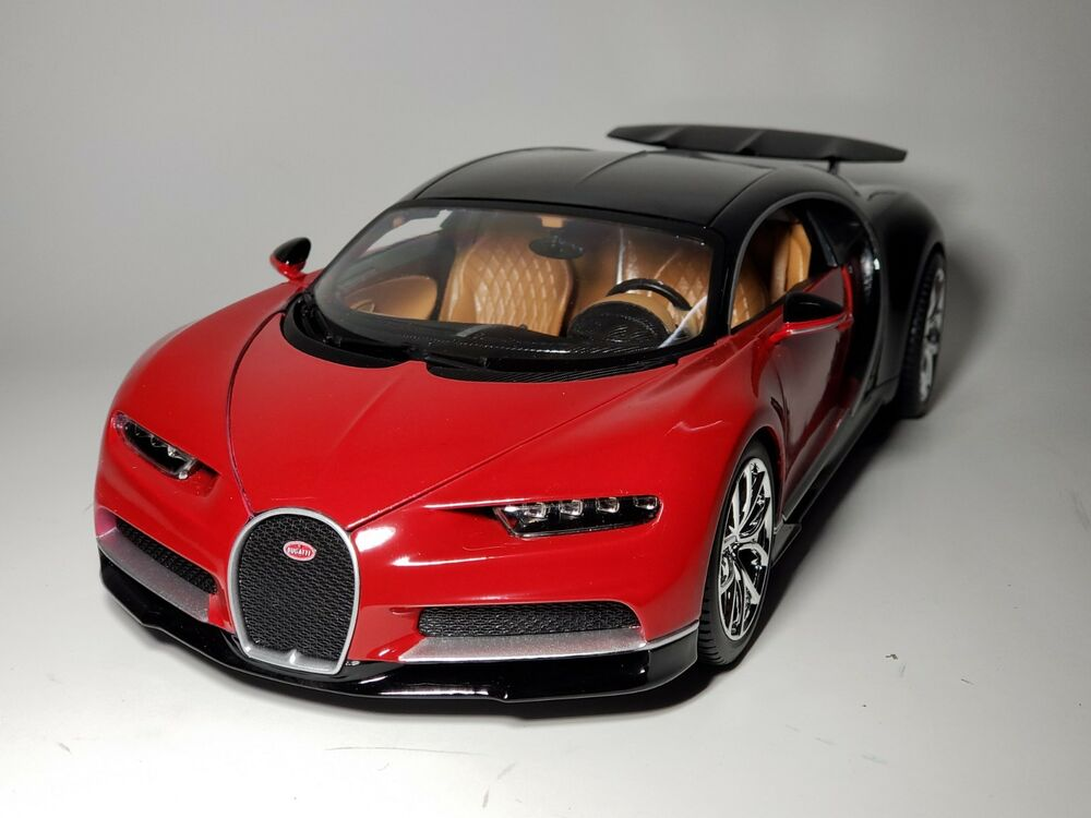 new maisto 1 18 diecast model bugatti chiron red black ebay. Black Bedroom Furniture Sets. Home Design Ideas