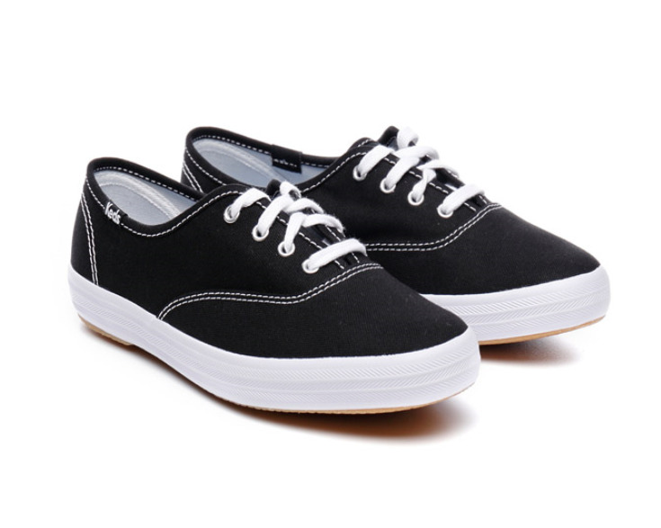 a721d638 Details about New Keds Champion Core Canvas Sneakers Black WF34100 Women  Casual Shoes Tracking