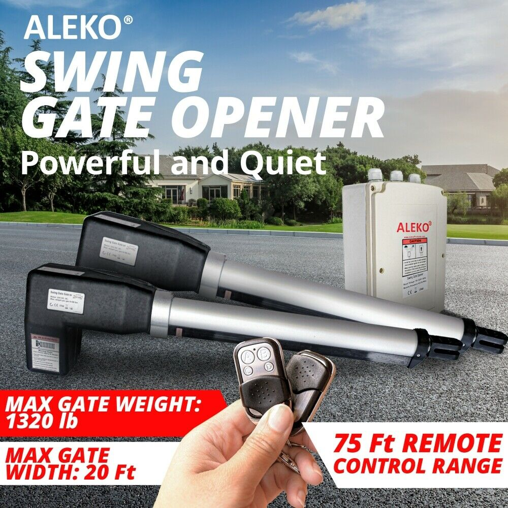 Aleko Electric Gate Opener Operator For Dual Swing Gates
