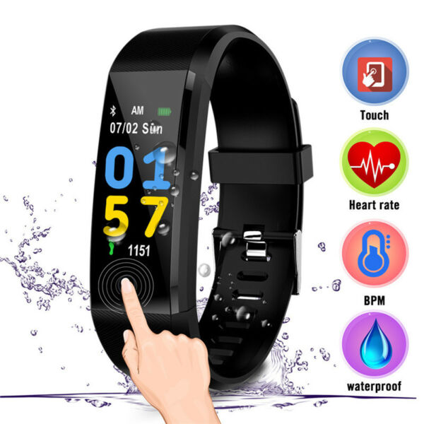 Cawono Smart Bracelet Watch Fitness Tracker for iPhone Android Phone Mate ID115