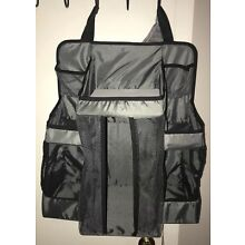 New Dex Baby Diaper  Nursery Hanging Organizer Multi Compartment Charcoal Gray