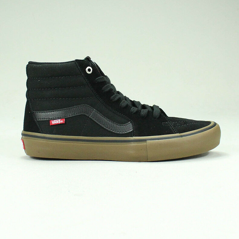 a54e86e134 Vans Sk8 Hi Pro Trainers Shoes in Black Gum in UK Size 4