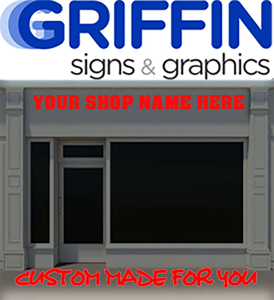 2 5 m shop front sign writing large custom signage vinyl stickers signs decals ebay