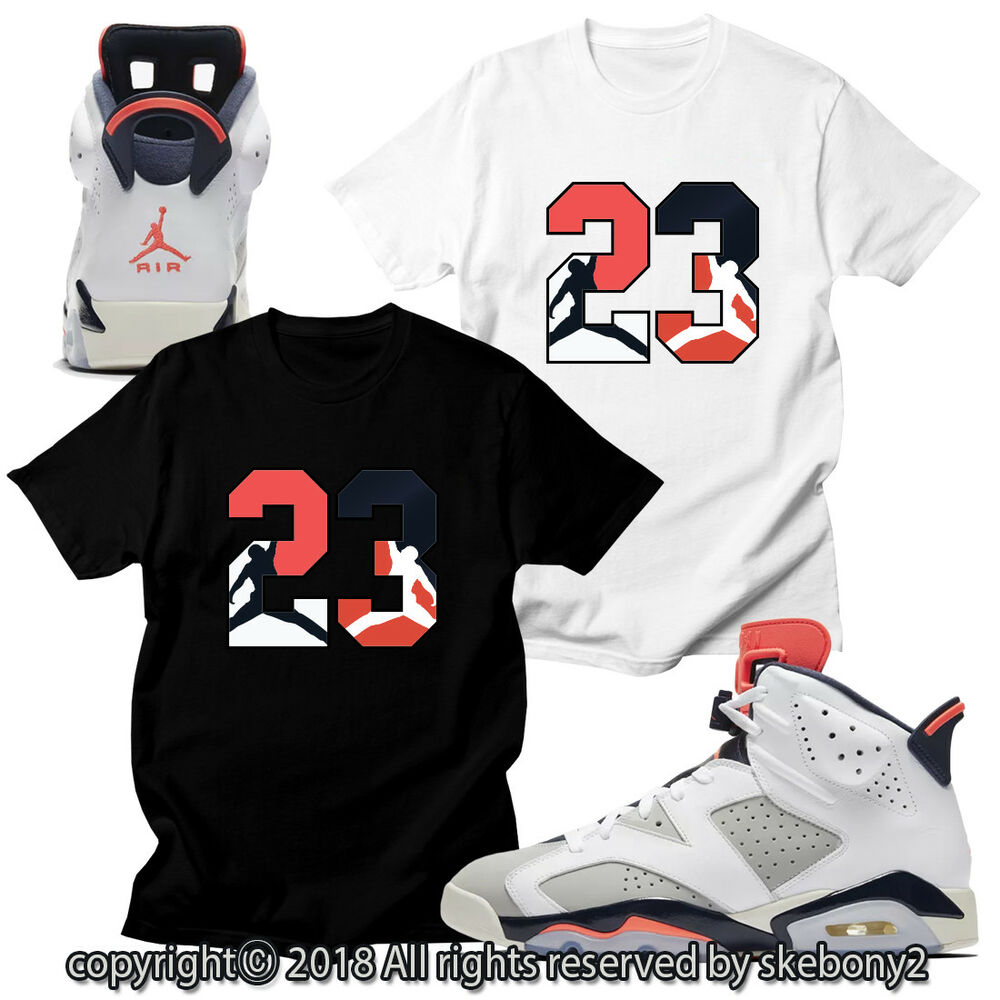 5204ac1bdb27a0 Details about CUSTOM T SHIRT MATCHING STYLE OF AIR JORDAN 6 INFRARED Tinker  JD 6-10-23