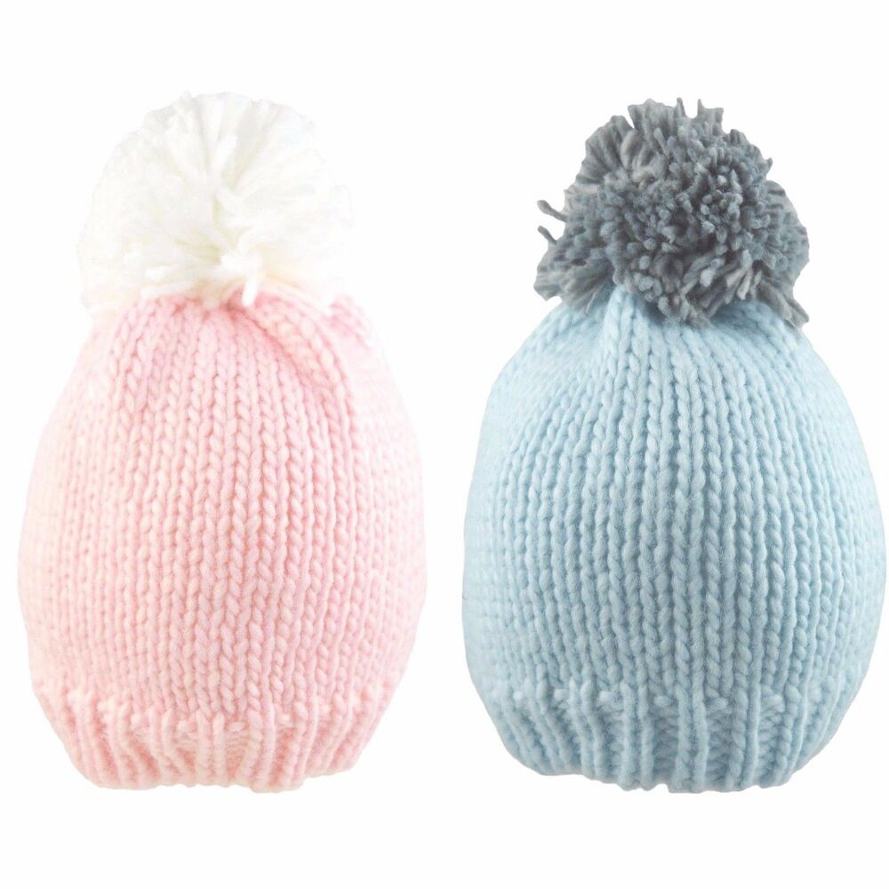 8f83c9753c4 Details about Baby Pom Pom Hat Boy Girl Bobble Beanie Cap Warm Winter Soft  knitted 0-18 Months