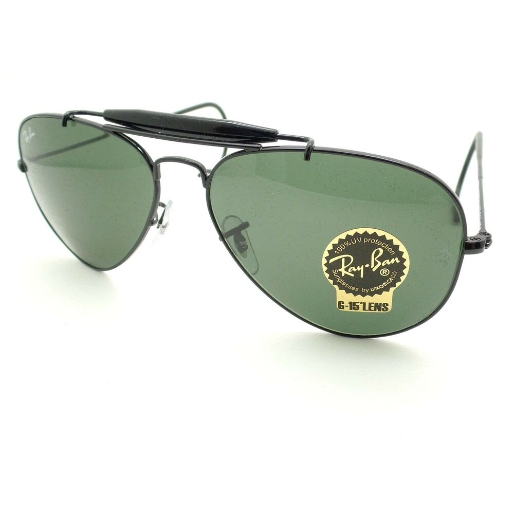 a1bbcebed8 Details about Ray Ban RB 3030 L9500 58mm Black G15 Outdoorsman Cable Temples  New Authentic