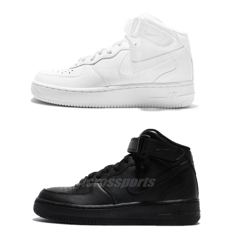 half off 56212 791eb Details about Nike Air Force 1 Mid 07 LE One Black   White Men Classic Shoes  Sneakers Pick 1
