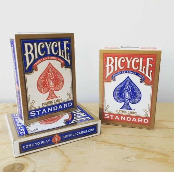 Bicycle Svengali Deck | Short and Long | Blue & Red | CHOOSE YOUR FORCE CARD