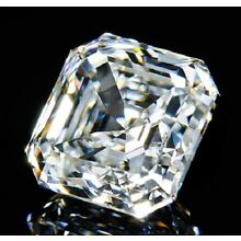 Perfect Asscher Cut 7x7 mm 2.9 ct VVS D White Brilliant Lab Diamond Solitaire
