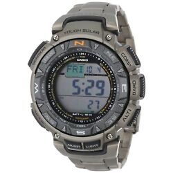 Kyпить Casio Pro Trek Men's Solar Triple Sensor Titanium Band 51mm Watch PAG240T-7 на еВаy.соm