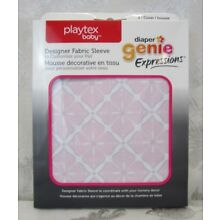 Playtex Baby Diaper Genie Expressions Fabric Sleeve Cover ~ Pink Starburst