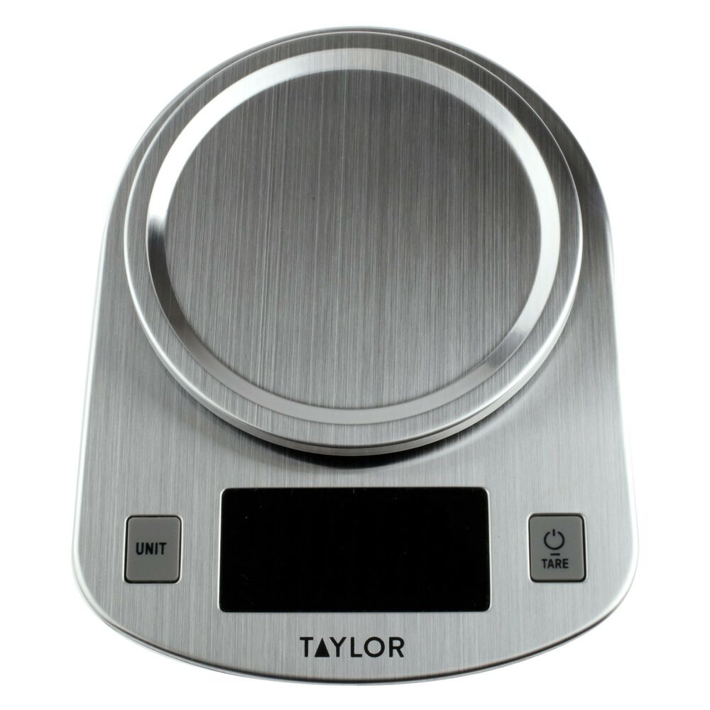 Details About New Taylor, Stainless Steel, LED Kitchen Scale, 11 LB  Capacity 38979