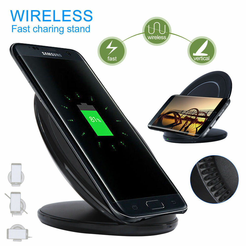 qi wireless fast charger dock charging pad for iphone 8 8. Black Bedroom Furniture Sets. Home Design Ideas
