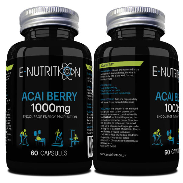 ACAI BERRY 1000mg HIGH STRENGTH | CAPSULES NOT TABLETS | WEIGHT LOSS | SLIMMING