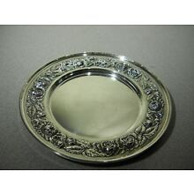 STIEFF Rose Sterling Silver Repousse Plate  #525 - 6 1/4