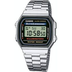 Kyпить Casio Men's Quartz Digital Alarm Silver-Tone Bracelet 32mm Watch A168W-1 на еВаy.соm