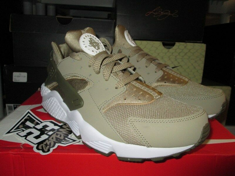 super popular 88a67 3859a Details about SALE NIKE AIR HUARACHE RUN KHAKI MEDIUM OLIVE WHITE 318429 200  SZ 8.5 NEW