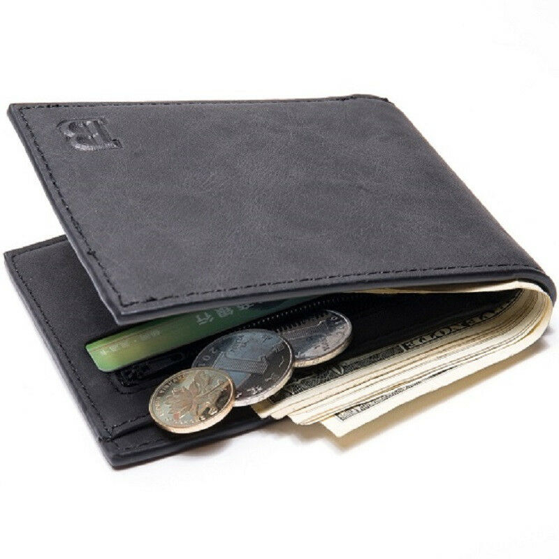 ab0efbafe942 Details about Mens Wallet with Coin Bag Zipper Small Money Purses New  Design Dollar Slim Purse