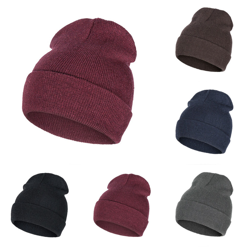 Women Men Cap Knit Hats Unisex Hedging Baggy Hat Warm Outdoor Beanie ...