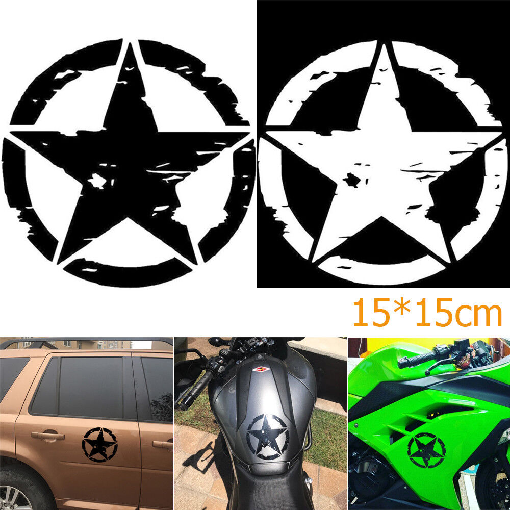 Details about 1515cm army star graphic decals motorcycle vinyl car styling car stickers bin