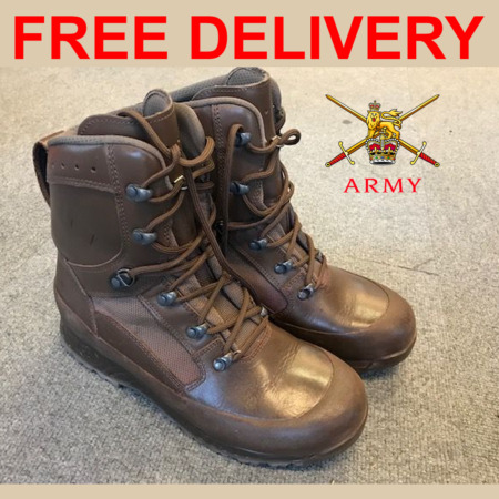 img-BRITISH ARMY ISSUE HAIX HIGH LIABILITY COMBAT BROWN LEATHER BOOTS CADET PATROL