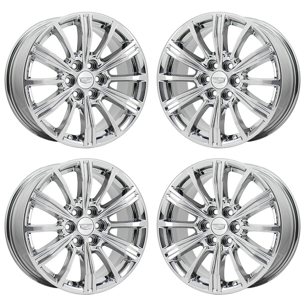 "18"" CADILLAC XT5 PVD CHROME WHEELS RIMS FACTORY OEM SET"