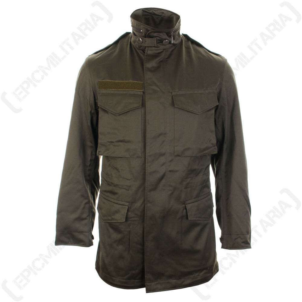 0f3cd6f8e4a Details about Original Austrian Olive Drab Parka - Winter Coat Jacket  Military Army Surplus