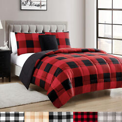 Kyпить Buffalo Plaid Reversible Down Alternative Comforter Set на еВаy.соm