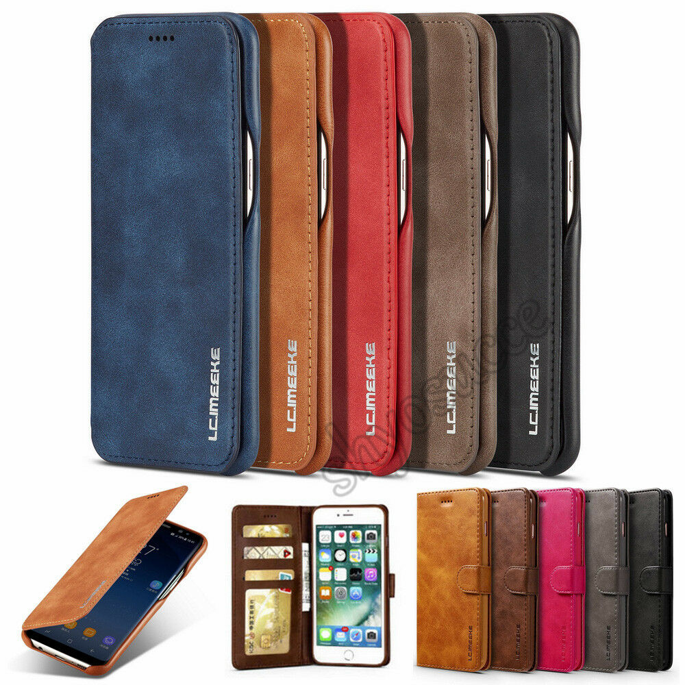 best service cfddc 224ef Flip Stand Magnetic Wallet PU Leather Slim Case Cover For Huawei P20 Pro  Lite | eBay