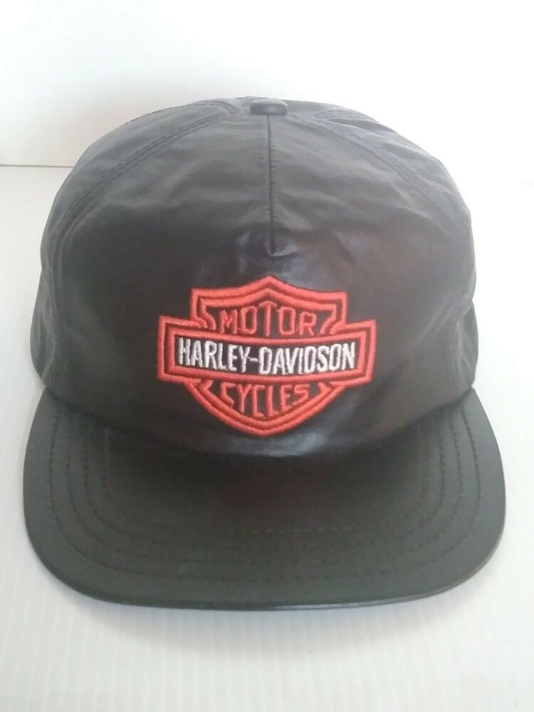 Details about VINTAGE 80  S HARLEY DAVIDSON HAT CAP. WITH ADJUSTABLE  FITTING IN THE BACK. 5bbba4302ff