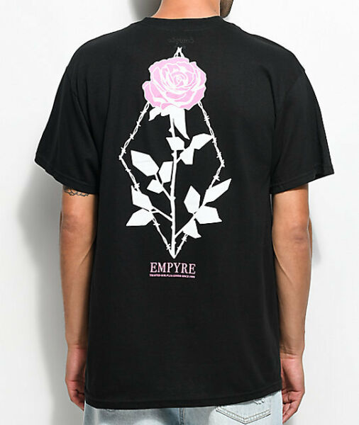 Empyre Above Eden Flora T-Shirt Flowers Tee Front Back Print New Exclusive New