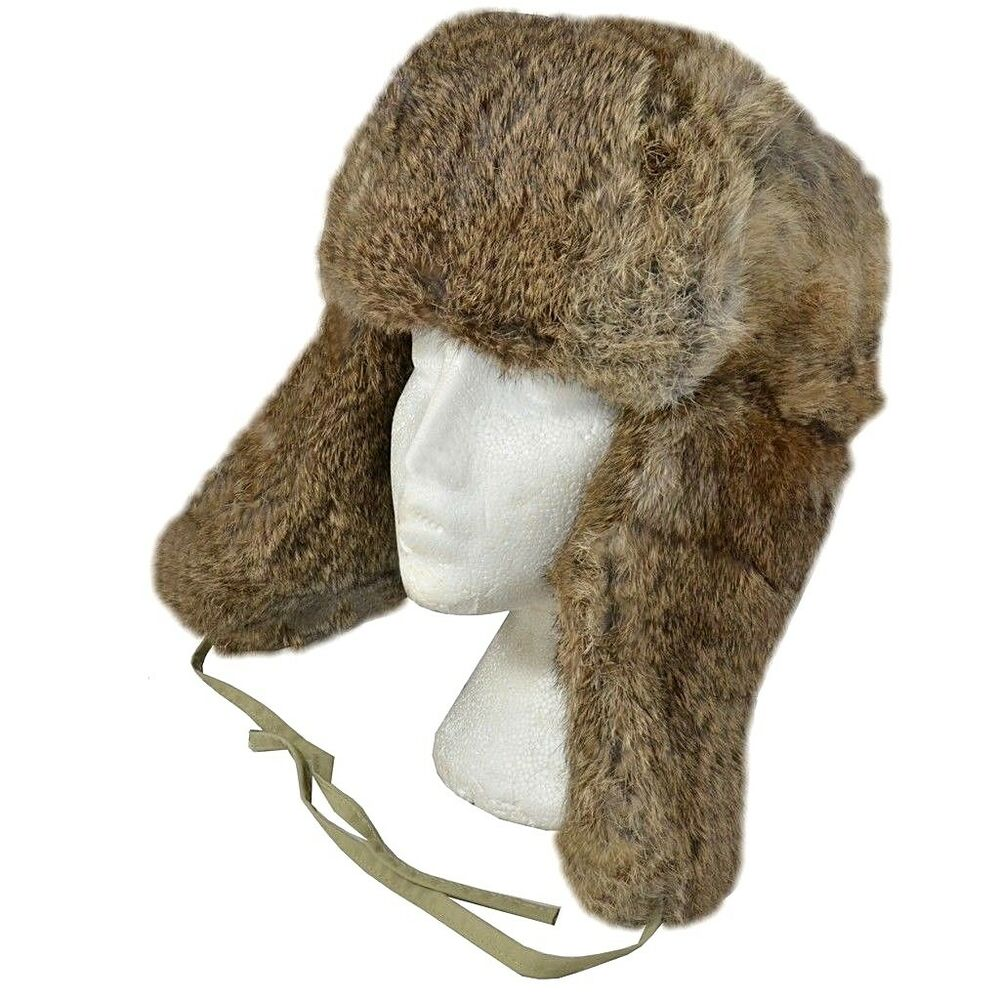 Details about Russian Style Rabbit Fur Ushanka - Cossack Brown Winter Ski  Hat Cold Dutch New 46d6234ecc6