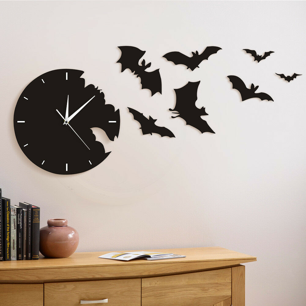 Details About A Bat Clock From The Escape Wall Scary Symbol Watch Room Decor
