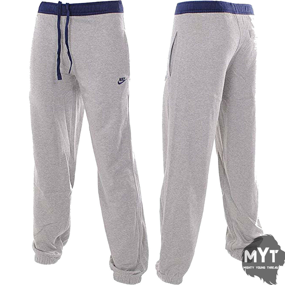 the latest 0448c 1d31c New Nike Mens Fleece Tracksuit Jogging Track Pants Charcoal Black Nike  Printed   eBay