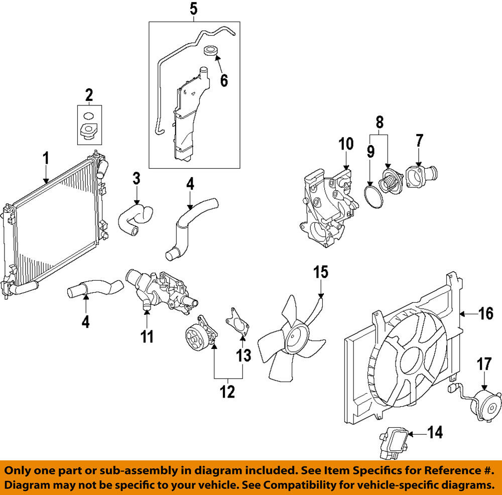 Nissan Juke Engine Diagram Wiring Library Fuel System Oem 11 15 Radiator Cooling Fan Motor 214871kc0b Ebay