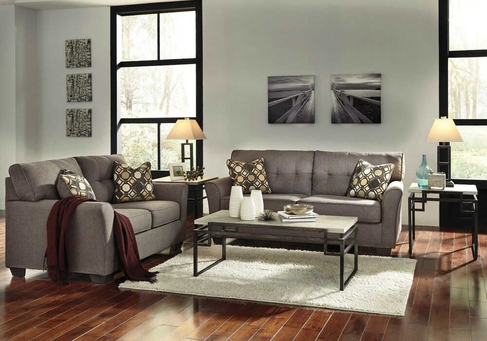 ashley furniture tibbee slate sofa and loveseat ebay