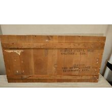 Vintage Rare Funeral Mortuary Coffin Casket Shipping Crate Top - Midwest Casket
