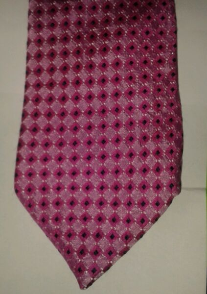 Dehavilland pink checked silk tie