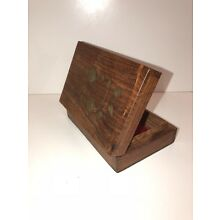 Beautiful Small Vintage Wooden Trinket/Jewelry Box Hand Crafted In India