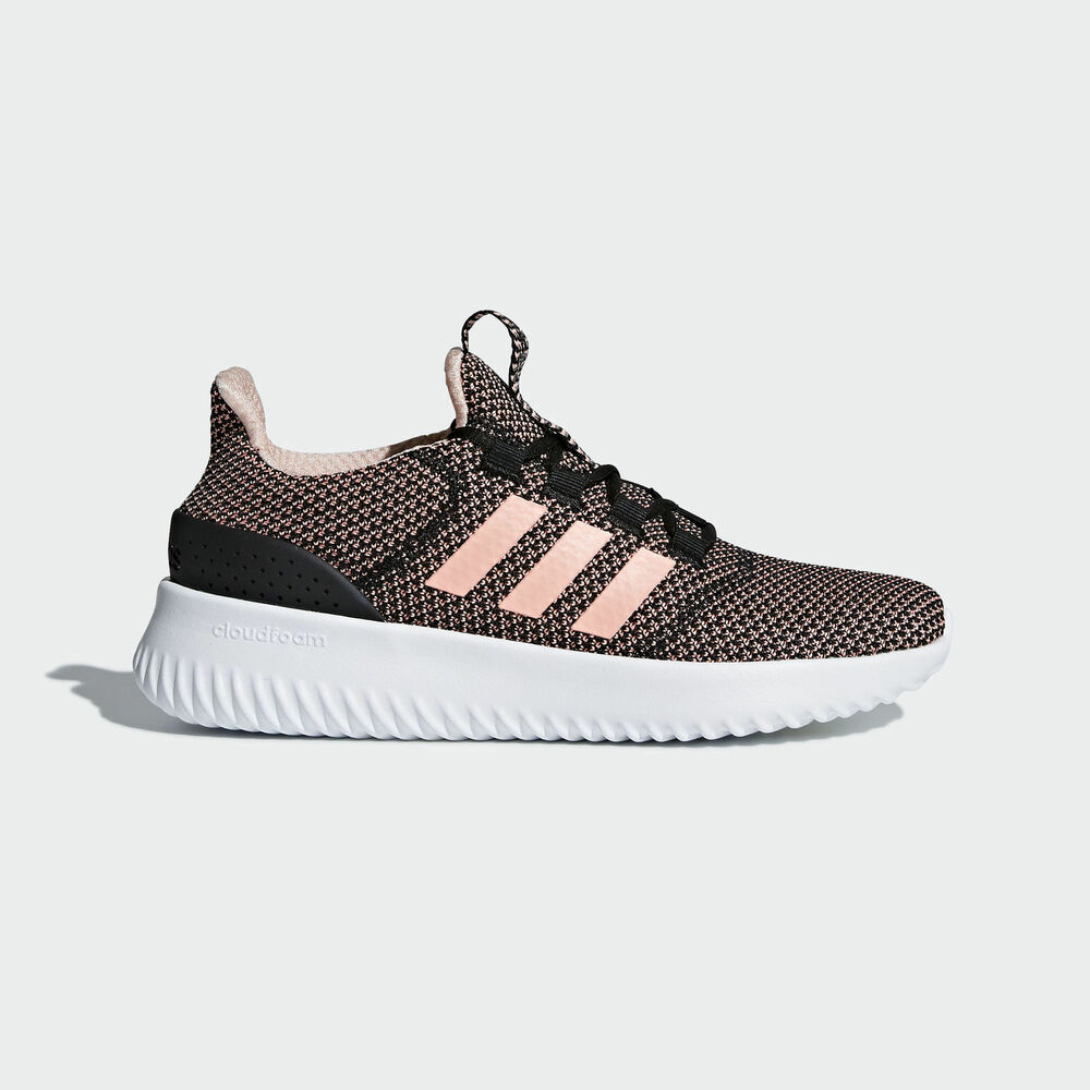 los angeles c0ce5 6ff44 Details about Adidas NEO Cloudfoam Ultimate  B43884  Women Casual Shoes  Black Clear Orange
